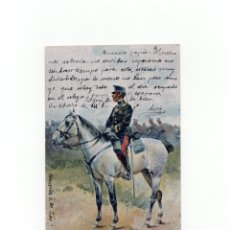 Postales: POSTAL ILUSTRADA POR J. CUSACHS DE 1902. ED. THOMAS. SOLDADO. MILITAR ESPAÑOL. . Lote 175133528
