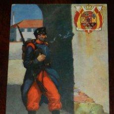 Postales: POSTAL DE MILITAR DEL REGIMIENTO DE INFANTERIA, ED. RAPHAEL TUCK & SONS, NO CIRCULADA, SIN DIVIDIR.. Lote 176235922