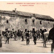 Postales: PS8207 COLECCIÓN ACADEMIA DE CABALLERÍA \'MARCHAS 1909 LLEGADA A RENEDO\'. PRINC. S. XX. Lote 176261935