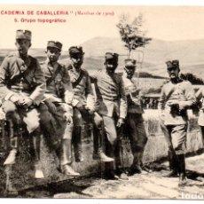 Postales: PS8215 COLECCIÓN ACADEMIA DE CABALLERÍA \'MARCHAS 1909 GRUPO TOPOGRÁFICO\'. PRINC. S. XX. Lote 176263843