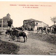 Postales: PS8216 COLECCIÓN ACADEMIA DE CABALLERÍA \'MARCHAS 1909 UN ALTO EN BOECILLO\'. PRINC. S. XX. Lote 176264033