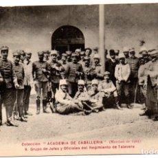 Postales: PS8219 COLECCIÓN ACADEMIA DE CABALLERÍA \\\'1909 JEFES Y OFICIALES REGIMIENTO TALAVERA\\\'. Lote 176265080