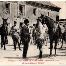 Postales: PS8220 COLECCIÓN ACADEMIA DE CABALLERÍA \'MARCHAS 1909 EN LA PLAZA DE RENEDO\'. PRINC. S. XX. Lote 176265287