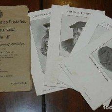 Postales: CARLISTAS ILUSTRES. CARLISMO. SERIE E. COMPLETA CON 10 POSTALES. SIN DIVIDIR AL DORSO. SOBRE ORIGINA. Lote 176319408