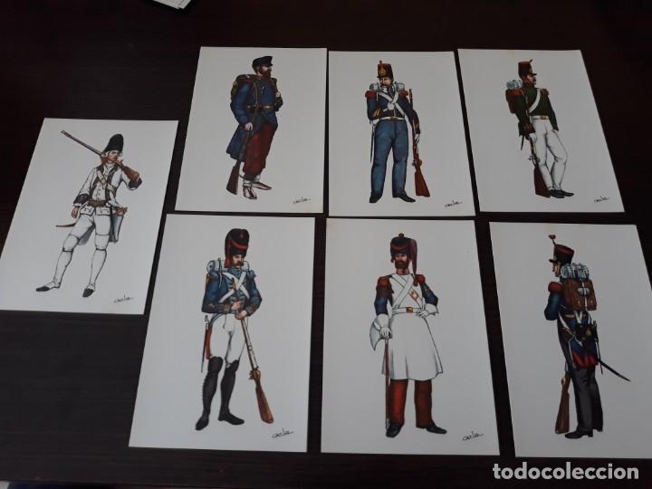 POSTALES UNIFORMES DEL REGIMIENTO N°1 DEL REY (Postales - Postales Temáticas - Militares)