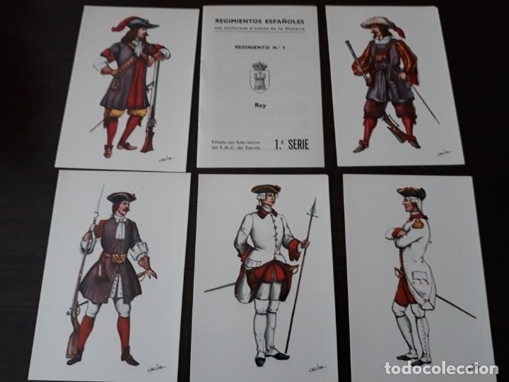 Postales: Postales uniformes del regimiento n°1 del Rey - Foto 3 - 176454562