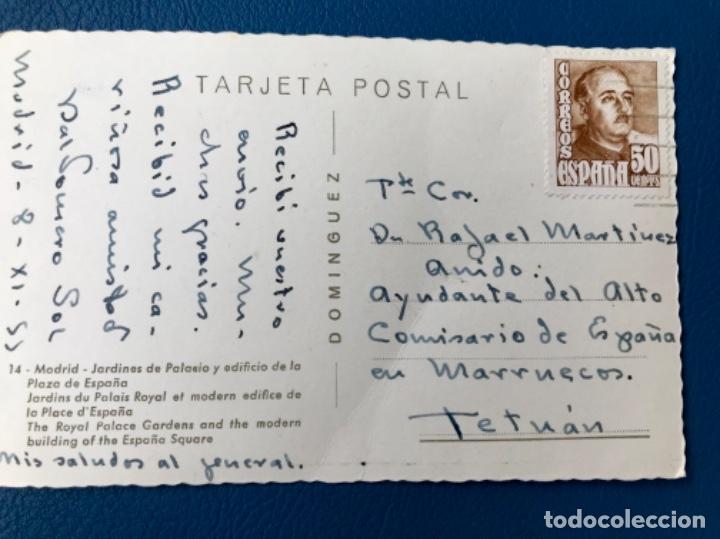 Postales: Foto postal dominguez madrid jardines de palacio legion rafael martinez anido tetuan baldomero sol - Foto 2 - 176487833