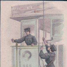 Postales: LES POILUES DE L' ARRIÈRE - POSTAL RECONSTRUCCION 1 GUERRA MUNDIAL 1914 - VER REVERSO. Lote 176505329