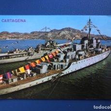 Postales: CARTAGENA FRAGATAS EN EL PUERTO SIN CIRCULAR EDICIONES ARRIBAS MURCIA BARCO MILITAR FOTO POSTAL. Lote 176994409