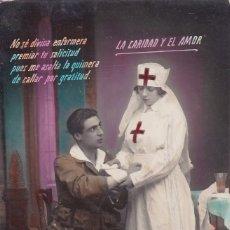 Postales: ENFERMERA CURANDO A UN MILITAR ED. MADRID. Lote 191520498