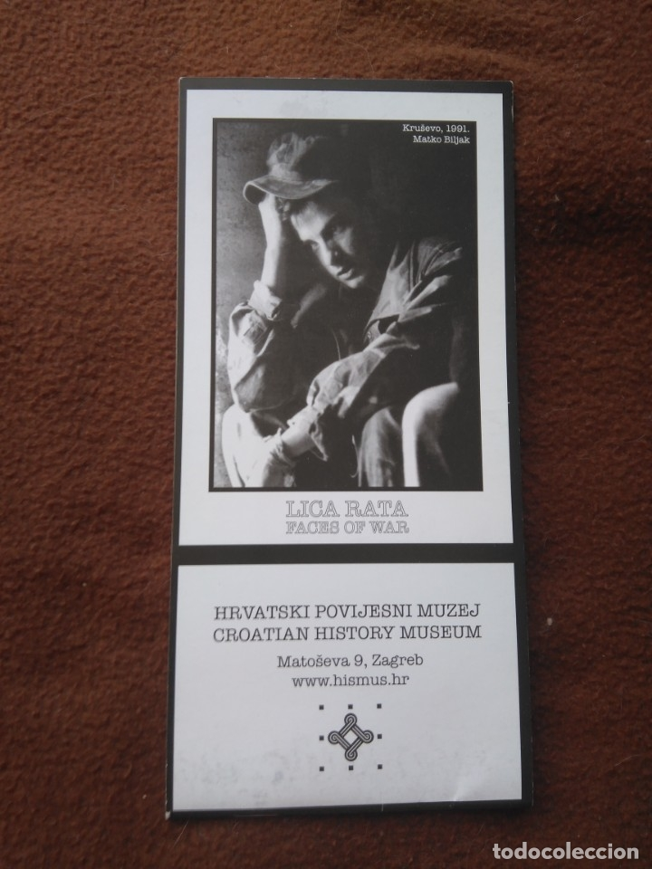 CUADERNILLO CON 4 POSTALES GUERRA CROACIA FACES OF WAR BLANCO Y NEGRO (Postales - Postales Temáticas - Militares)
