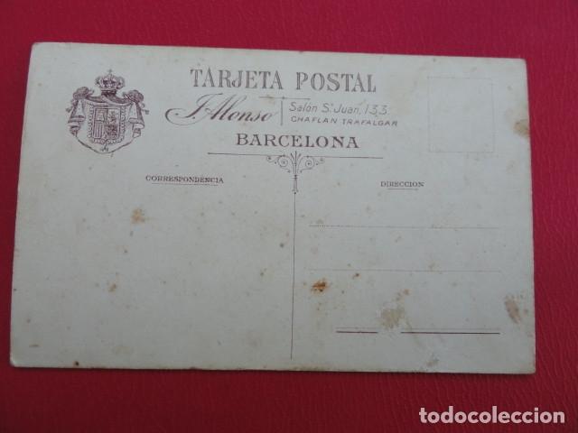 Postales: POSTAL SOLDADO. FOTO DE ESTUDIO. FOTÓGRAFO J. ALONSO. BARCELONA. PP.S.XX. - Foto 2 - 179329771