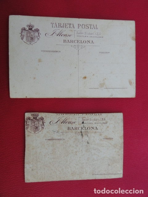 Postales: POSTAL SOLDADO. FOTO DE ESTUDIO. FOTÓGRAFO J. ALONSO. BARCELONA. PP.S.XX. - Foto 4 - 179329771