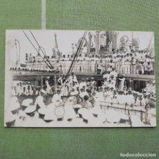 Postales: COMBATE DE BOXEO SOBRE LA CUBIERTA DE UN BUQUE DE GUERRA. SIN CIRCULAR. Lote 180005191
