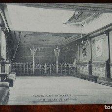 Postales: POSTAL DE LA ACADEMIA ARTILLERIA, SEGOVIA, CLASE DE ESGRIMA, N.9, , ED. HAUSER Y MENET, NO CIRCULADA. Lote 180223062