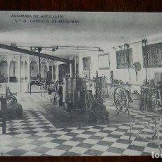 Postales: POSTAL DE LA ACADEMIA ARTILLERIA, SEGOVIA, GABINETE DE MAQUINAS, N. 13, ED. HAUSER Y MENET, NO CIRCU. Lote 180223281