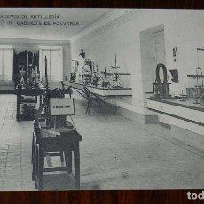 Postales: POSTAL DE LA ACADEMIA ARTILLERIA, SEGOVIA, GABINETE DE POLVORAS, N. 18, ED. HAUSER Y MENET, NO CIRCU. Lote 180223330