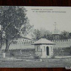 Postales: POSTAL DE LA ACADEMIA ARTILLERIA, SEGOVIA, OBSERVATORIO METEREOLOGICO, N. 20, ED. HAUSER Y MENET, NO. Lote 180223412