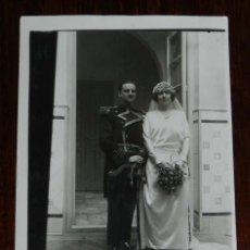 Postales: FOTO POSTAL DE MARIA MONISTROL Y PASCUAL DIEZ DE RIBERA, AÑO 1922, NO CIRCULADA, ESCRITA POR EL REVE. Lote 180226475