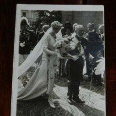Postales: FOTO POSTAL DE BODA DE HIJA DE MILITARES, AÑO 1921, NO CIRCULADA, ESCRITA POR EL REVERSO.. Lote 180226643