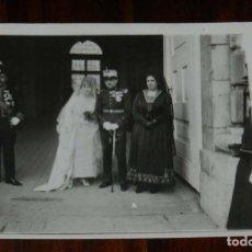 Postales: FOTO POSTAL DE LA BODA DE LA HIJA DE LOS MARQUESES DE CUBAS CON EL DUQUE DE HORNACHUELOS, EN EL PERP. Lote 180229060