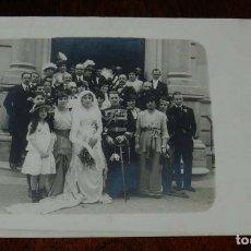 Postales: FOTO POSTAL DE LA BODA DE LA HIJA DE LOS MARQUESES DE CUBAS CON EL DUQUE DE HORNACHUELOS, EN EL PERP. Lote 180236798
