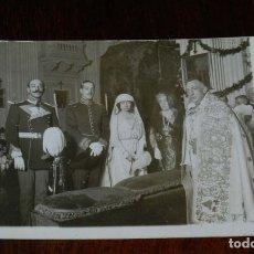 Postales: FOTO POSTAL DE BODA DE LA ALTA SOCIEDAD EN 1920, NO CIRCULADA.. Lote 180237200