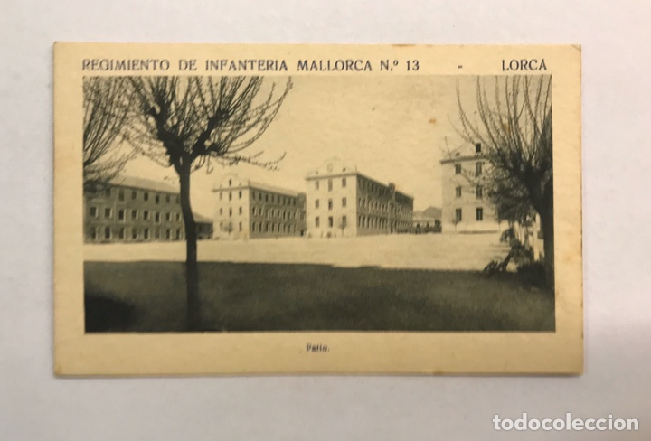 LORCA (MURCIA) POSTAL. REGIMIENTO DE INFANTERÍA MALLORCA NO.13, PATIO (H.1940?) (Postales - Postales Temáticas - Militares)