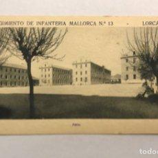 Postales: LORCA (MURCIA) POSTAL. REGIMIENTO DE INFANTERÍA MALLORCA NO.13, PATIO (H.1940?). Lote 180332350