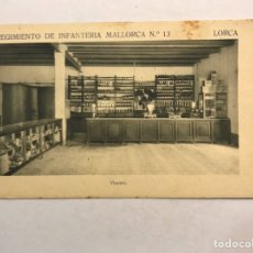 Postales: LORCA (MURCIA) POSTAL. REGIMIENTO DE INFANTERÍA MALLORCA NO.13, VÍVERES (H.1940?). Lote 180389376