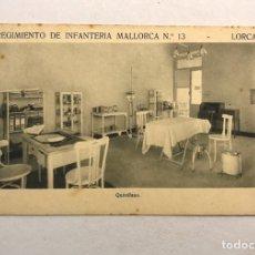 Postales: LORCA (MURCIA) POSTAL. REGIMIENTO DE INFANTERÍA MALLORCA NO.13, QUIRÓFANO (H.1940?). Lote 180389527