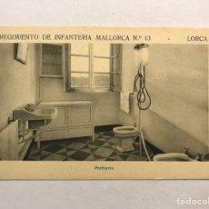 Postales: LORCA (MURCIA) POSTAL. REGIMIENTO DE INFANTERÍA MALLORCA NO.13, PROFILAXIS (H.1940?). Lote 180396026