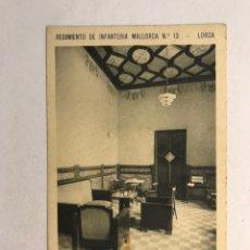 Postales: LORCA (MURCIA) POSTAL. REGIMIENTO DE INFANTERÍA MALLORCA NO.13, UN DETALLE DE LA SALA DE BANDERAS.. Lote 180398456