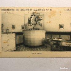 Postales: LORCA (MURCIA) POSTAL. REGIMIENTO DE INFANTERÍA MALLORCA NO.13, BAR DE OFICIALES (H.1940?). Lote 180405021