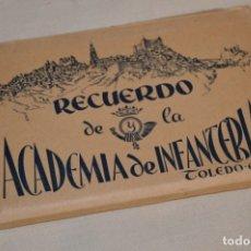 Postales: RECUERDO DE LA ACADEMIA DE INFANTERÍA - ANTIGUA CARPETA / BLOC - ORIGINAL - 20 POSTALES ¡MIRA!. Lote 181956291