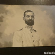 Postales: RETRATO DE MILITAR EN UNIFORME DE RAYADILLO POSTAL FOTOGRAFICA HACIA 1910. Lote 182168756