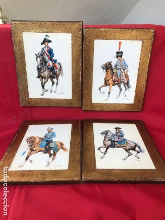 Postales: Militar a caballo dibujo postal cuatro cuadros ejercito caballeria ejercitos uniforme epoca firmados - Foto 3 - 182612713