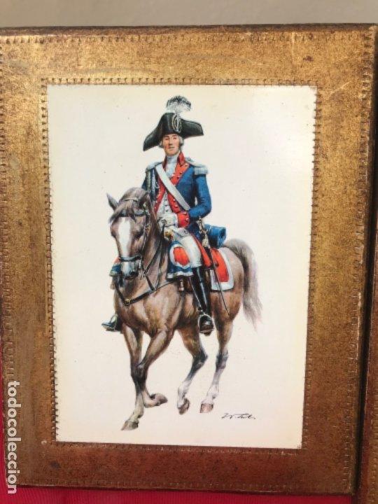 Postales: Militar a caballo dibujo postal cuatro cuadros ejercito caballeria ejercitos uniforme epoca firmados - Foto 4 - 182612713