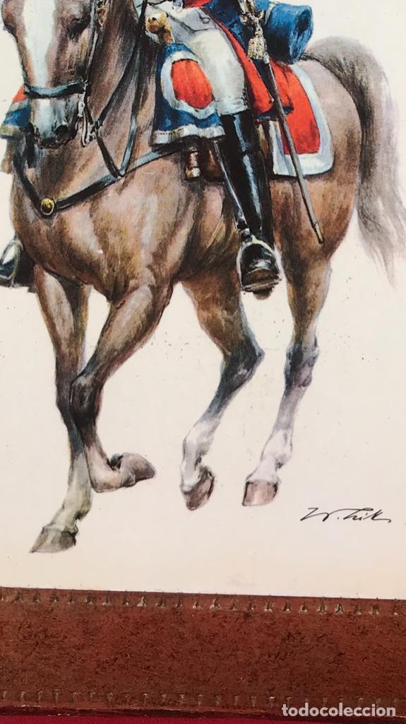 Postales: Militar a caballo dibujo postal cuatro cuadros ejercito caballeria ejercitos uniforme epoca firmados - Foto 5 - 182612713