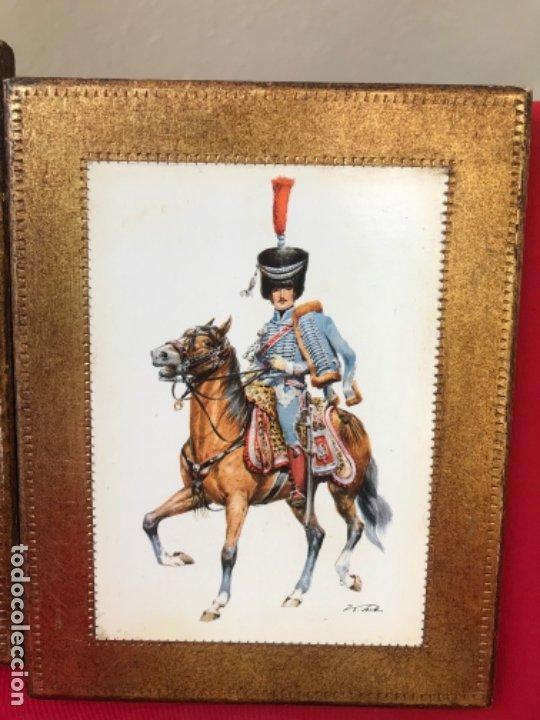 Postales: Militar a caballo dibujo postal cuatro cuadros ejercito caballeria ejercitos uniforme epoca firmados - Foto 7 - 182612713