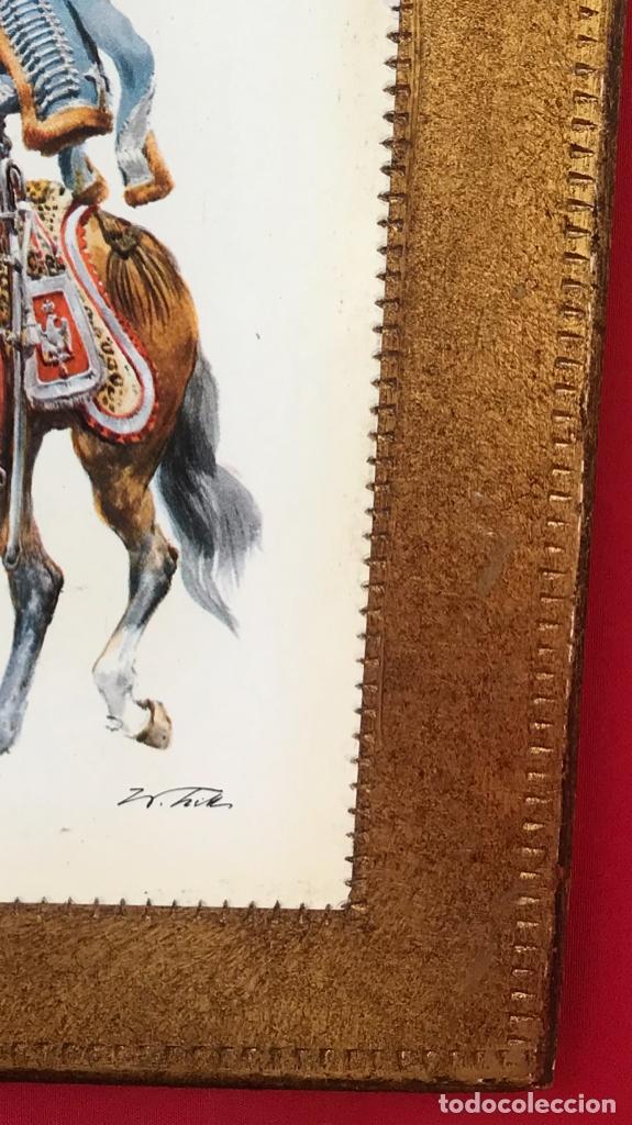 Postales: Militar a caballo dibujo postal cuatro cuadros ejercito caballeria ejercitos uniforme epoca firmados - Foto 8 - 182612713