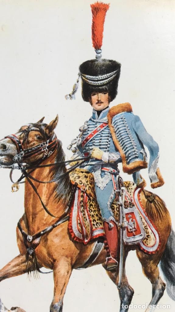 Postales: Militar a caballo dibujo postal cuatro cuadros ejercito caballeria ejercitos uniforme epoca firmados - Foto 9 - 182612713