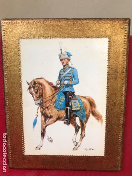 Postales: Militar a caballo dibujo postal cuatro cuadros ejercito caballeria ejercitos uniforme epoca firmados - Foto 10 - 182612713