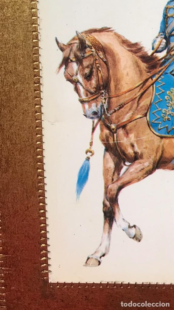 Postales: Militar a caballo dibujo postal cuatro cuadros ejercito caballeria ejercitos uniforme epoca firmados - Foto 11 - 182612713