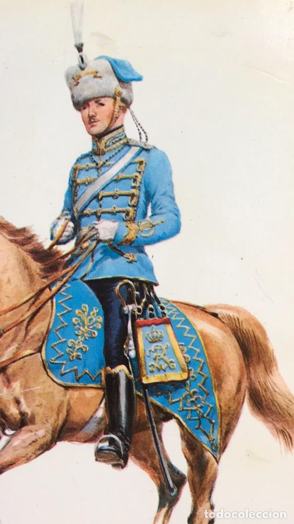 Postales: Militar a caballo dibujo postal cuatro cuadros ejercito caballeria ejercitos uniforme epoca firmados - Foto 12 - 182612713