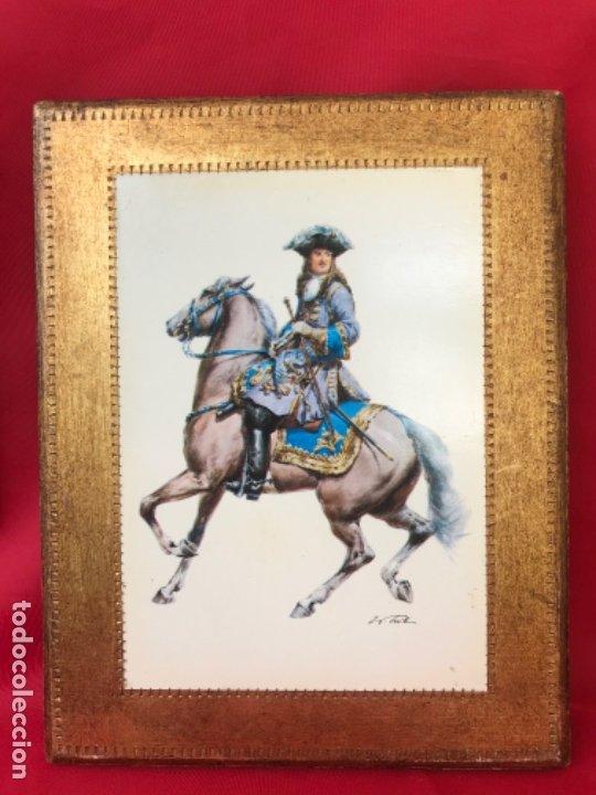 Postales: Militar a caballo dibujo postal cuatro cuadros ejercito caballeria ejercitos uniforme epoca firmados - Foto 13 - 182612713