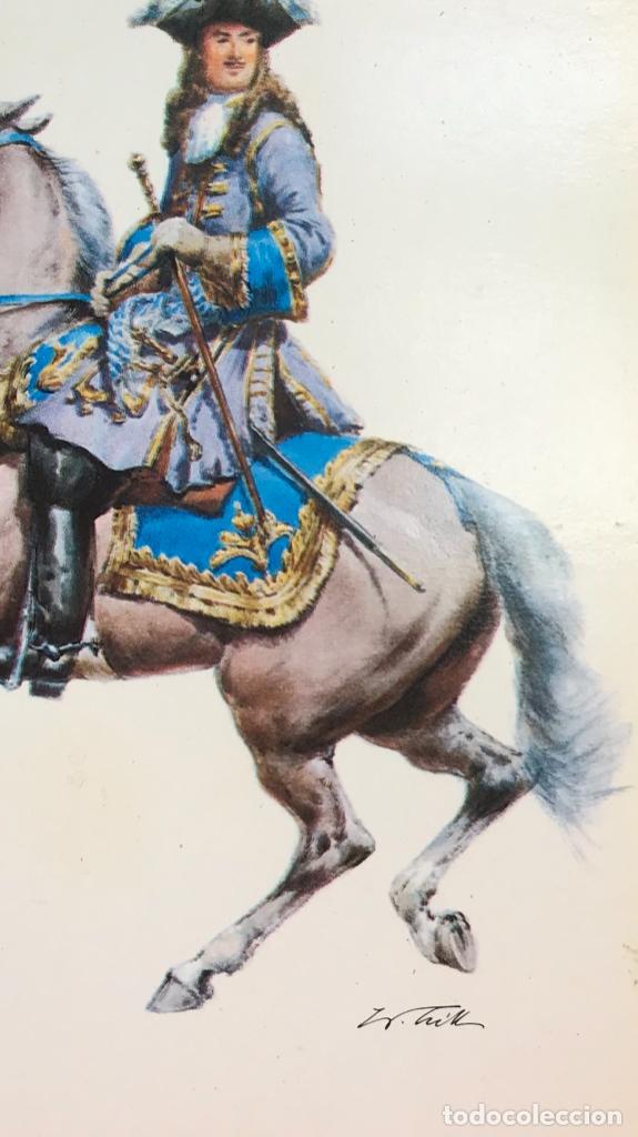 Postales: Militar a caballo dibujo postal cuatro cuadros ejercito caballeria ejercitos uniforme epoca firmados - Foto 14 - 182612713