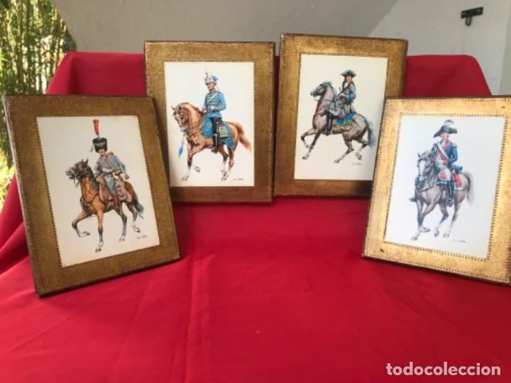 Postales: Militar a caballo dibujo postal cuatro cuadros ejercito caballeria ejercitos uniforme epoca firmados - Foto 16 - 182612713