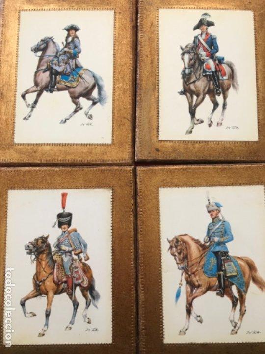 Postales: Militar a caballo dibujo postal cuatro cuadros ejercito caballeria ejercitos uniforme epoca firmados - Foto 21 - 182612713