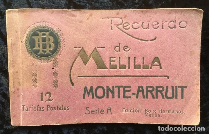 RECUERDO DE MELILLA - MONTE - ARRUIT - SERIE A - 12 TARJETAS POSTALES - BOIX HERMANOS - RIF - ANNUAL (Postales - Postales Temáticas - Militares)